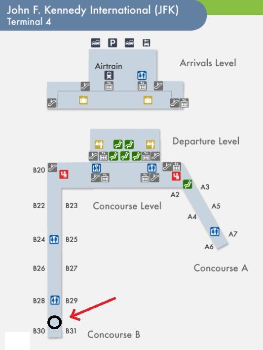 map of jfk terminal 4 John F Kennedy International Airport Jfk Pet Relief Areas Dogs map of jfk terminal 4