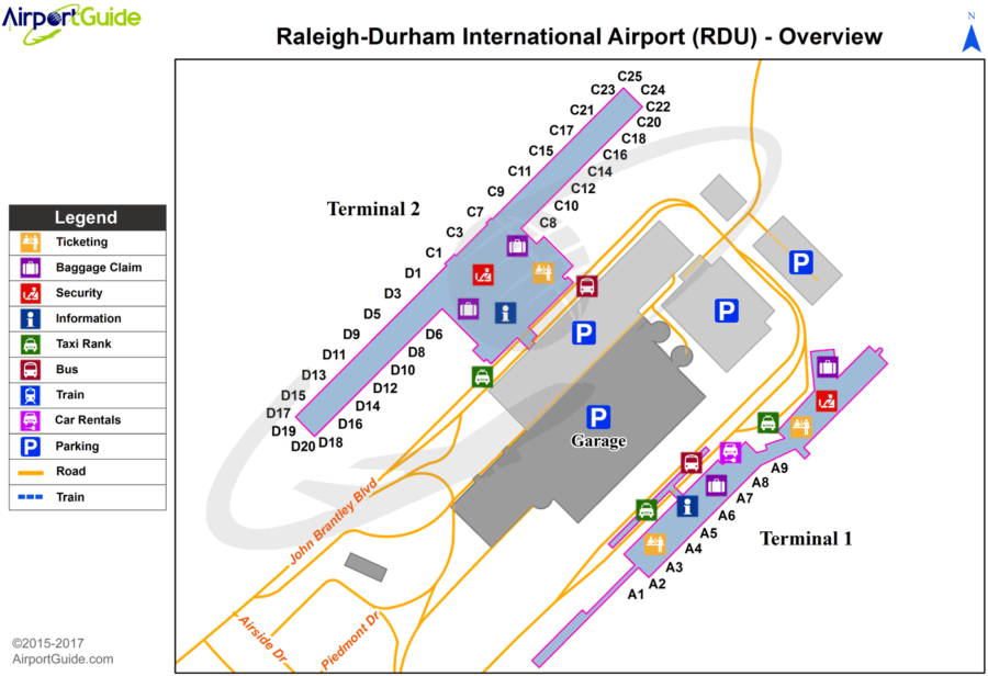 RDU-Airport-terminal-map-pet-relief-areas